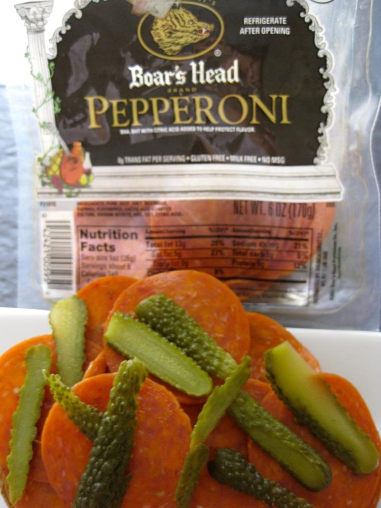 Boar's Head pepperoni sandwich