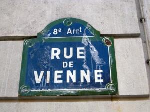 Paris Rue de Vienne